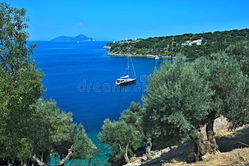 Grecja, wyspa widok wyspa Atokos zdjęcie stock