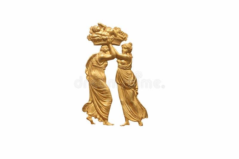 grecka człowiek zwolnień kobieta ilustracja wektor