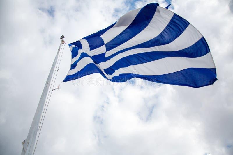 Grecka flaga państowowa Lata obrazy stock