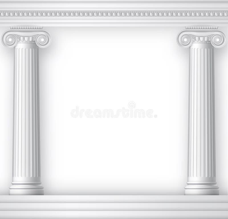 Grecka lub Romańska świątynia royalty ilustracja