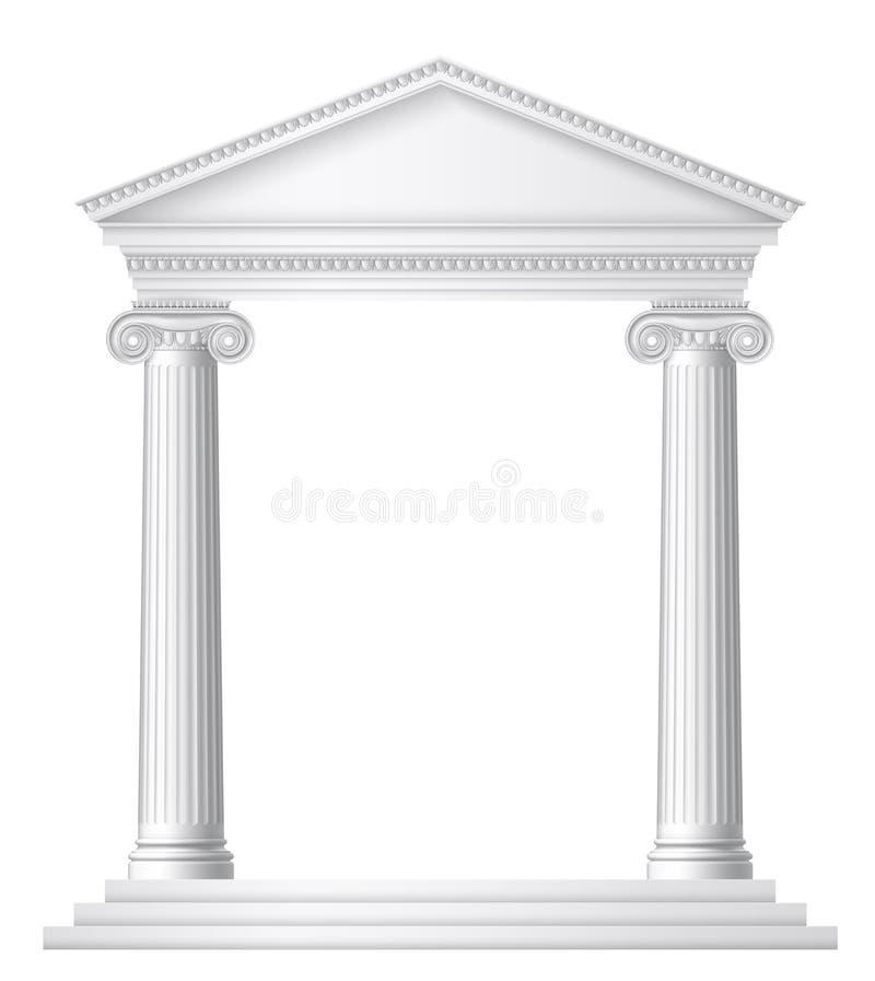 Grecka lub Roma?ska ?wi?tynia ilustracja wektor