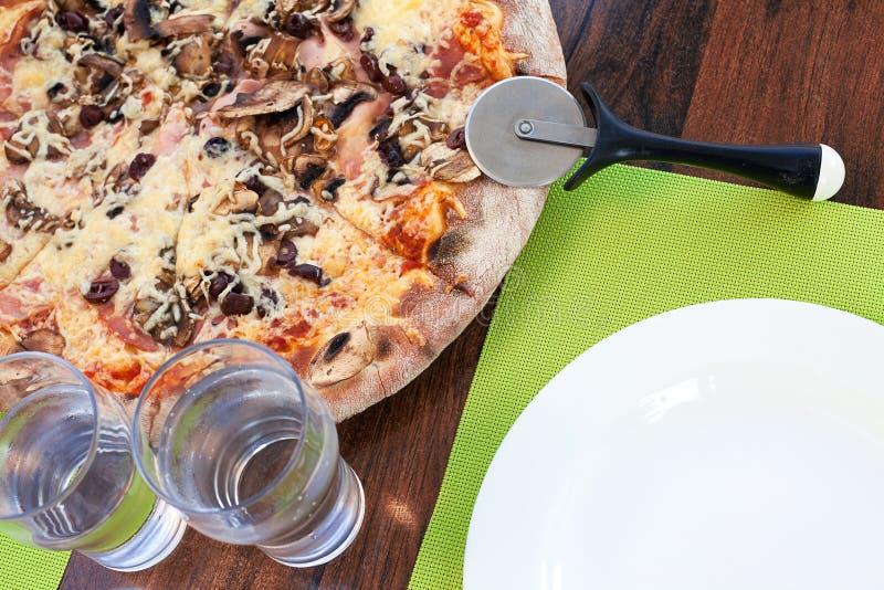 grecka pizza zdjęcia royalty free