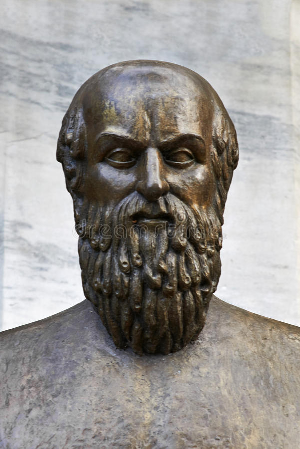 Grecka poeta Aeschylus zdjęcie royalty free