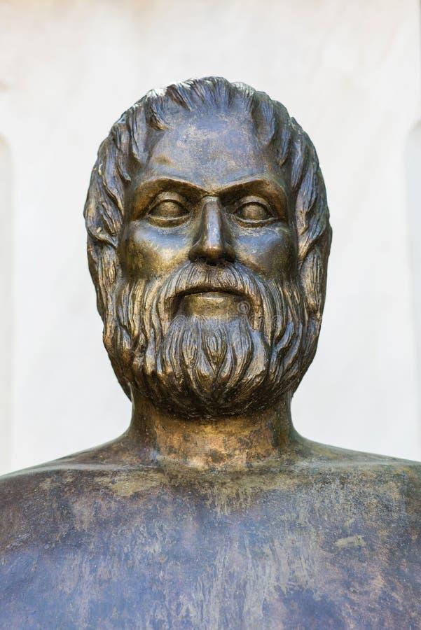 Grecka poeta Euripides zdjęcia stock