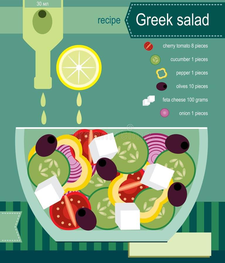 grecka sałatka ilustracji