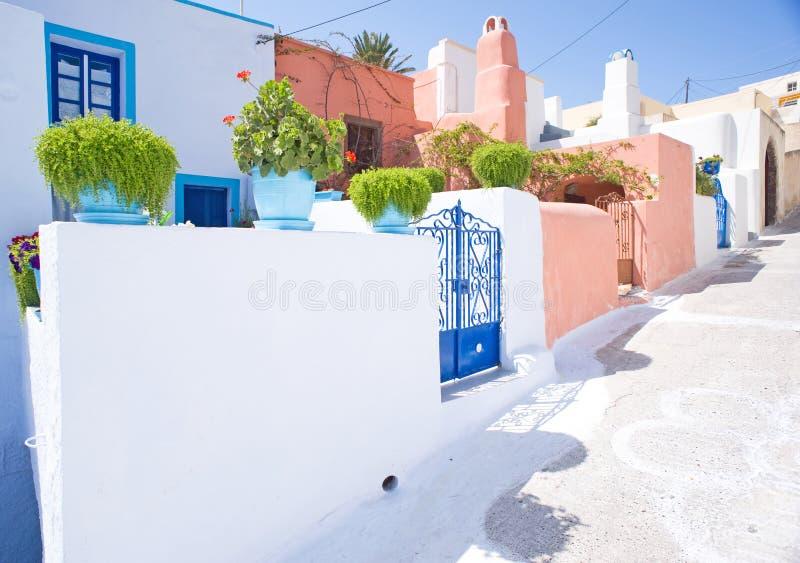 grecka uliczna wioska zdjęcie stock