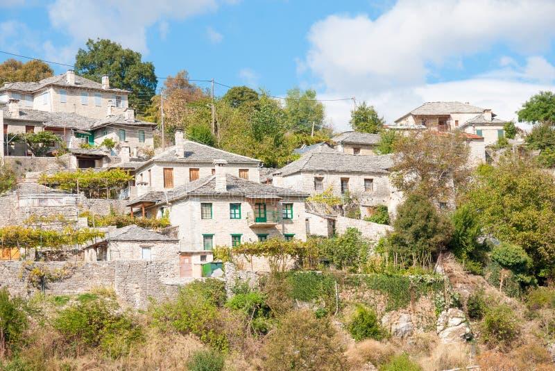 Grecka wioska w Zagoria zdjęcia royalty free