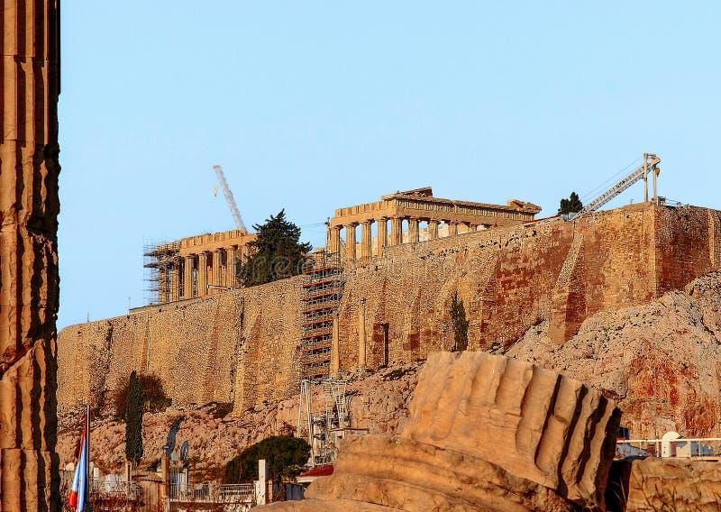 Grecki akropol obrazy royalty free