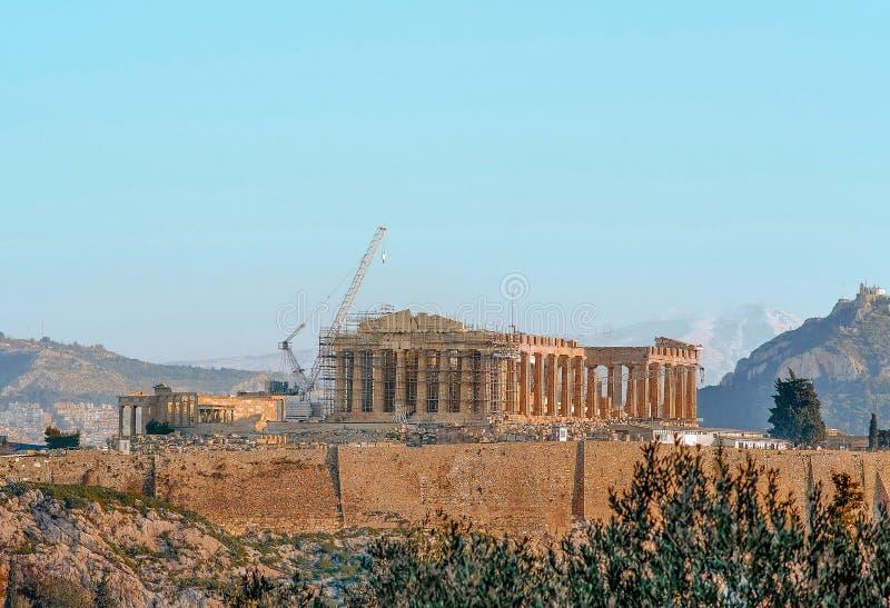 Grecki akropol obraz stock