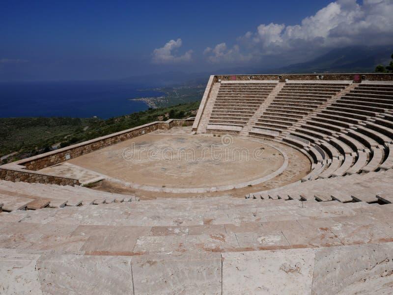 Grecki amfiteatr zdjęcia royalty free