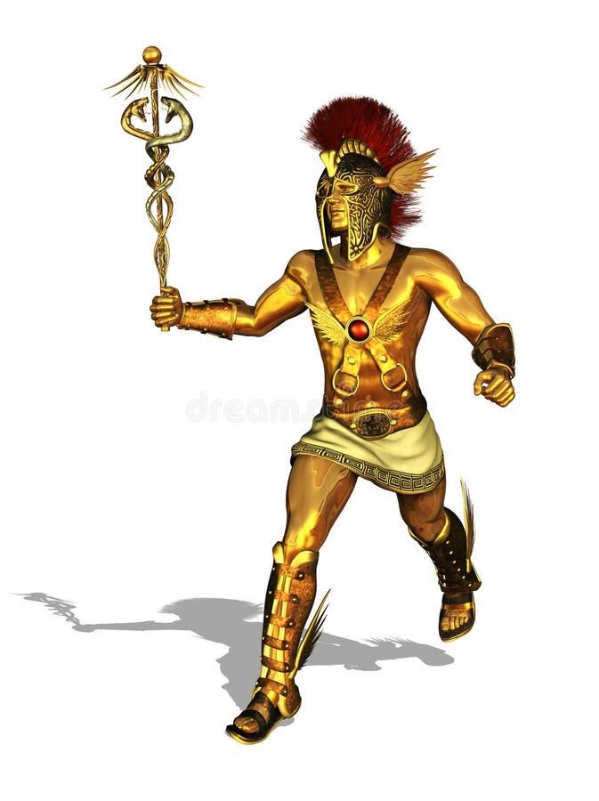 Grecki bóg rtęci bieg ilustracja wektor