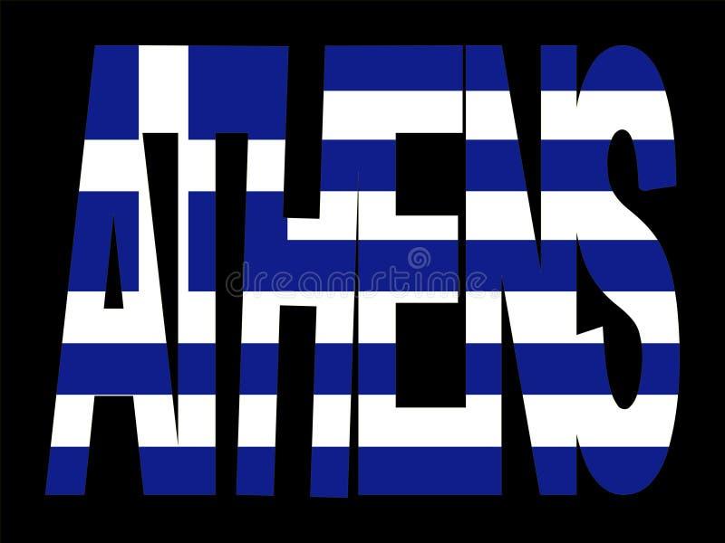 grecki bandery athens tekst ilustracji