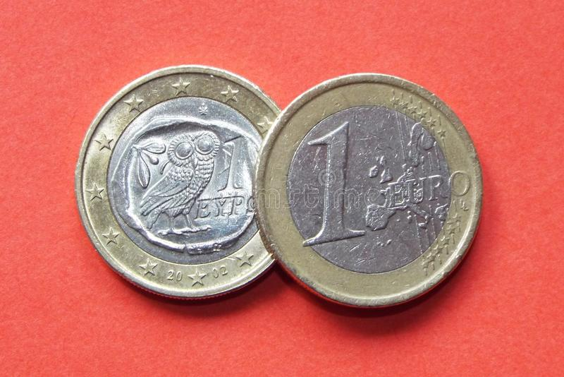 Grecki euro obraz royalty free