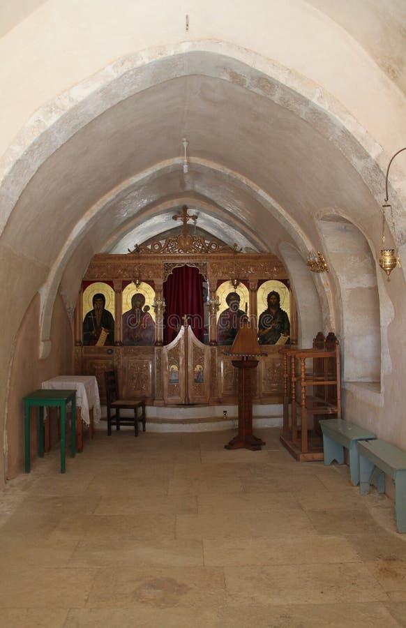 Grecki kościół Hall, Crete, Grecja zdjęcie royalty free