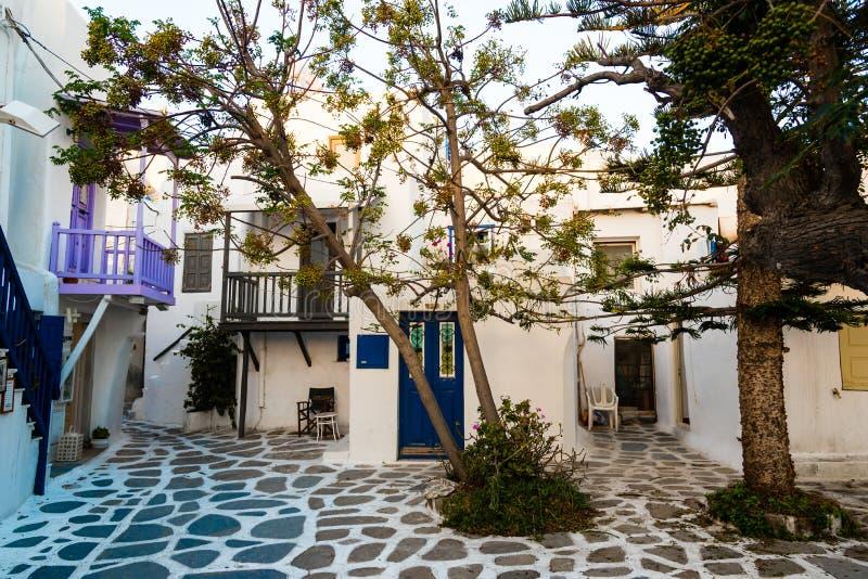 Grecki podwórze fotografia stock