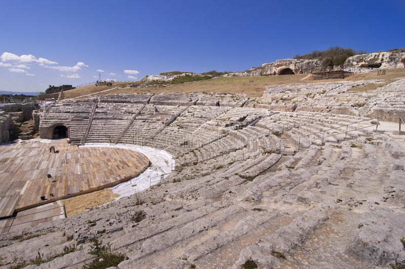 grecki Sicily siracusa teatr zdjęcia royalty free