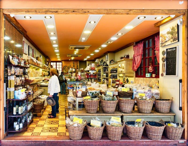 Grecki specjalność sklep Sprzedaje Naturalnych produkty, Ateny, Grecja zdjęcia stock