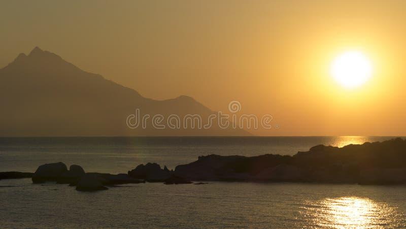 Grecki wschód słońca zdjęcie stock