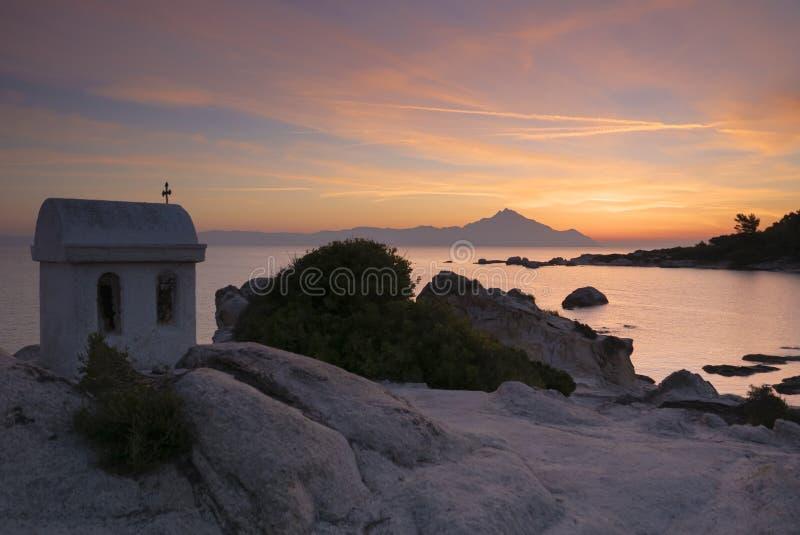 Grecki wschód słońca obraz stock