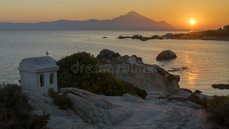 Grecki wschód słońca obrazy stock