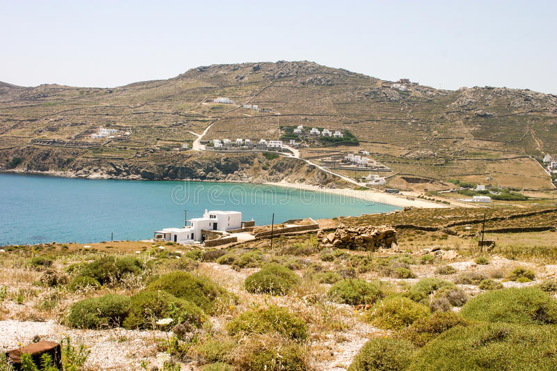 Grecki wyspy wybrzeże obrazy royalty free