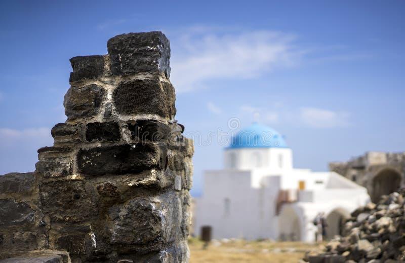 Greckiego kościół Domed dach obrazy stock