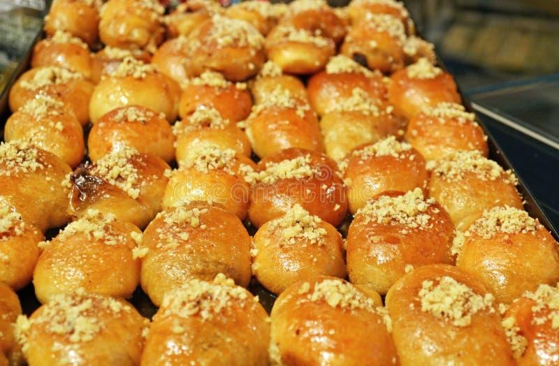 Greckiego melomakarona tradycyjni Bożenarodzeniowi ciastka fotografia royalty free