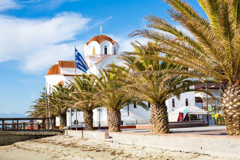Download Greckokatolicki Kościół W Paralia Katerini Plaży, Grecja Obraz Stock - Obraz złożonej z greeley, molo: 53782241
