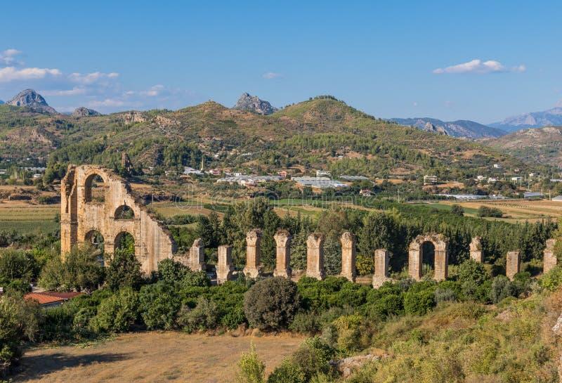 Greco-римский город Aspendos, Турции стоковые изображения