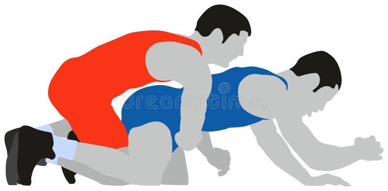 Greco de lucha Roman Sport stock de ilustración