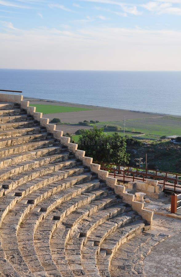 Greco - Roman Theatre, Cyprus royalty-vrije stock afbeelding