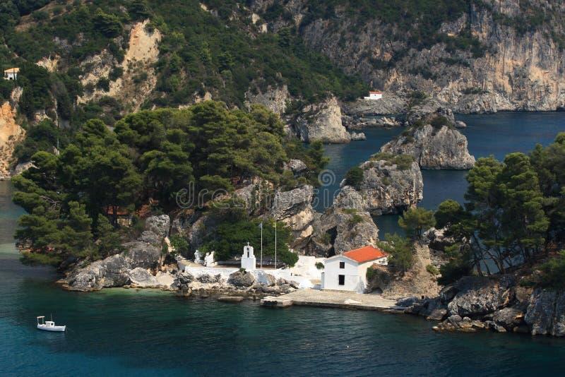 greece överblickparga arkivbilder