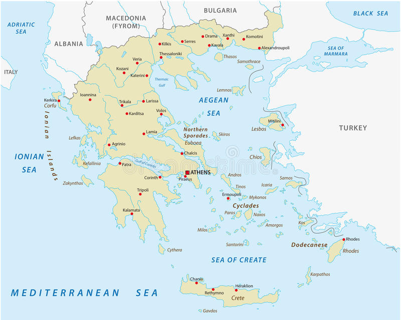 Greece abstract vector map stock vector Illustration of lesbos