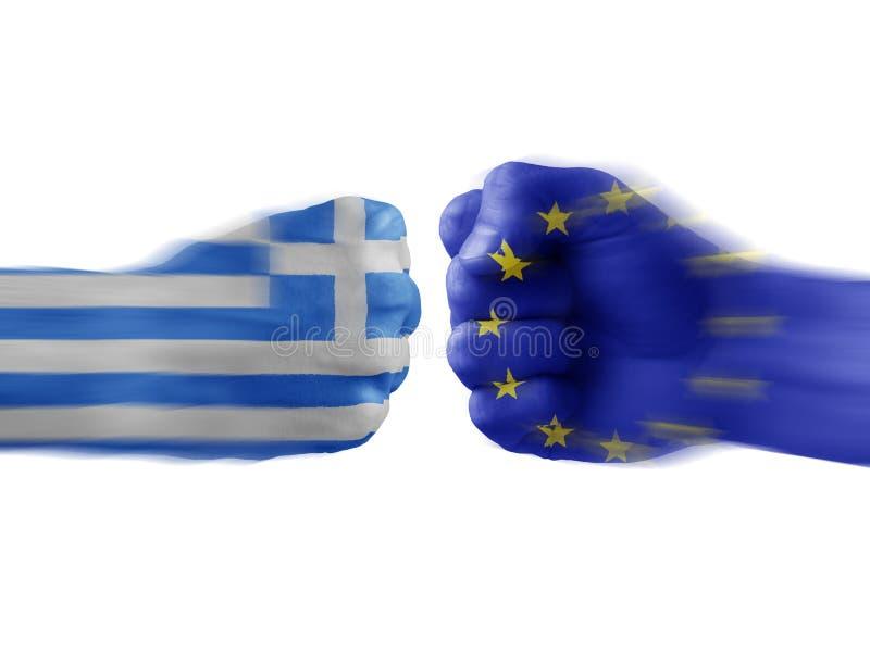 Greece & UE - desacordo fotografia de stock