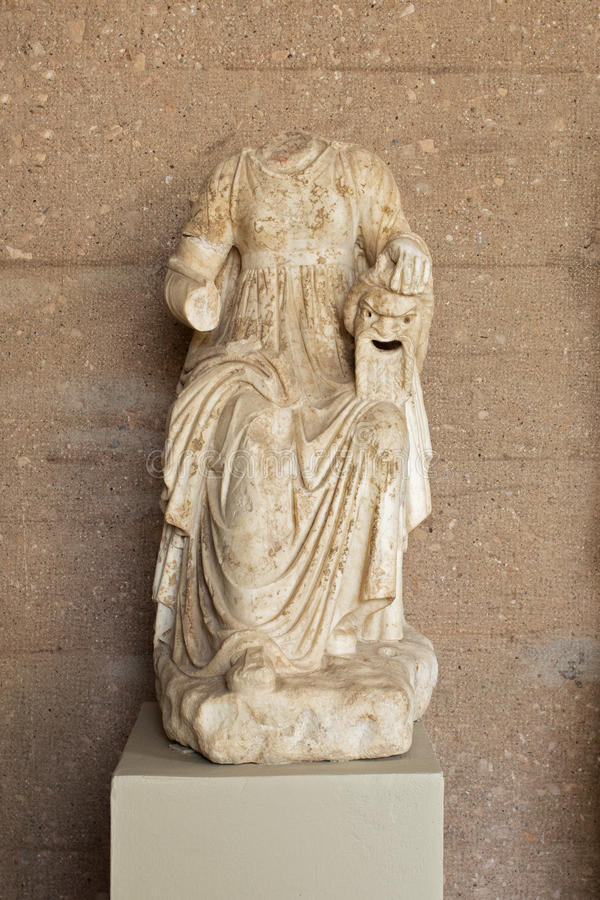Greece, ancient Corinth, statue in the museum. Ancient Corinth, statue in the museum stock photos