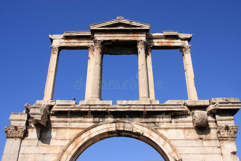 Greece Athens, Hadrian S Arch Stock Images