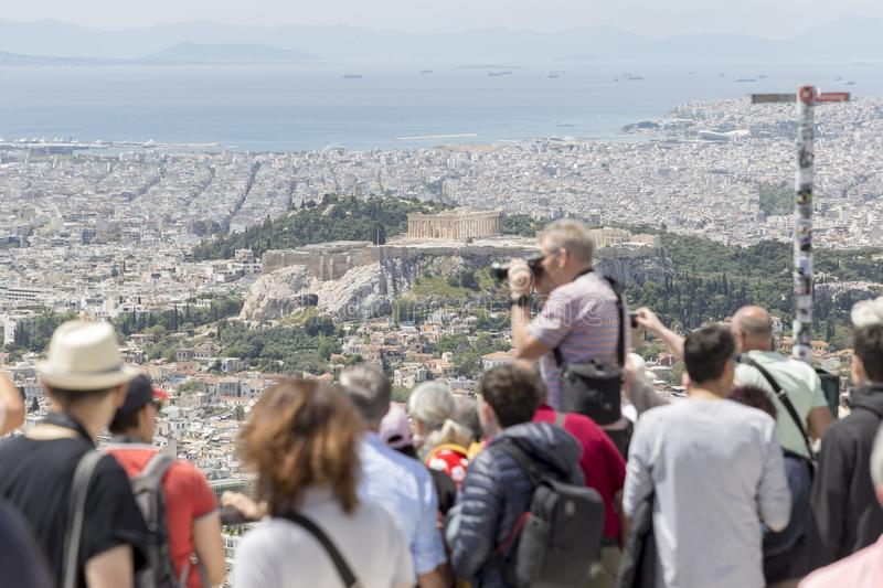 GREECE ATHENS LYCABETTUS HILL stock photography