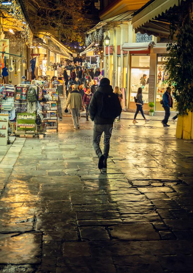 Greece - Athens market street royalty free stock photo