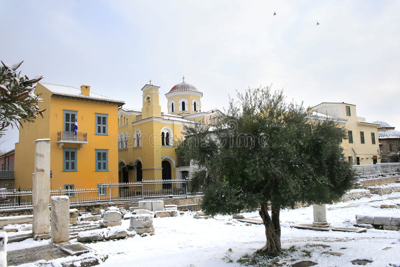 Greece - Athens Snow Storm