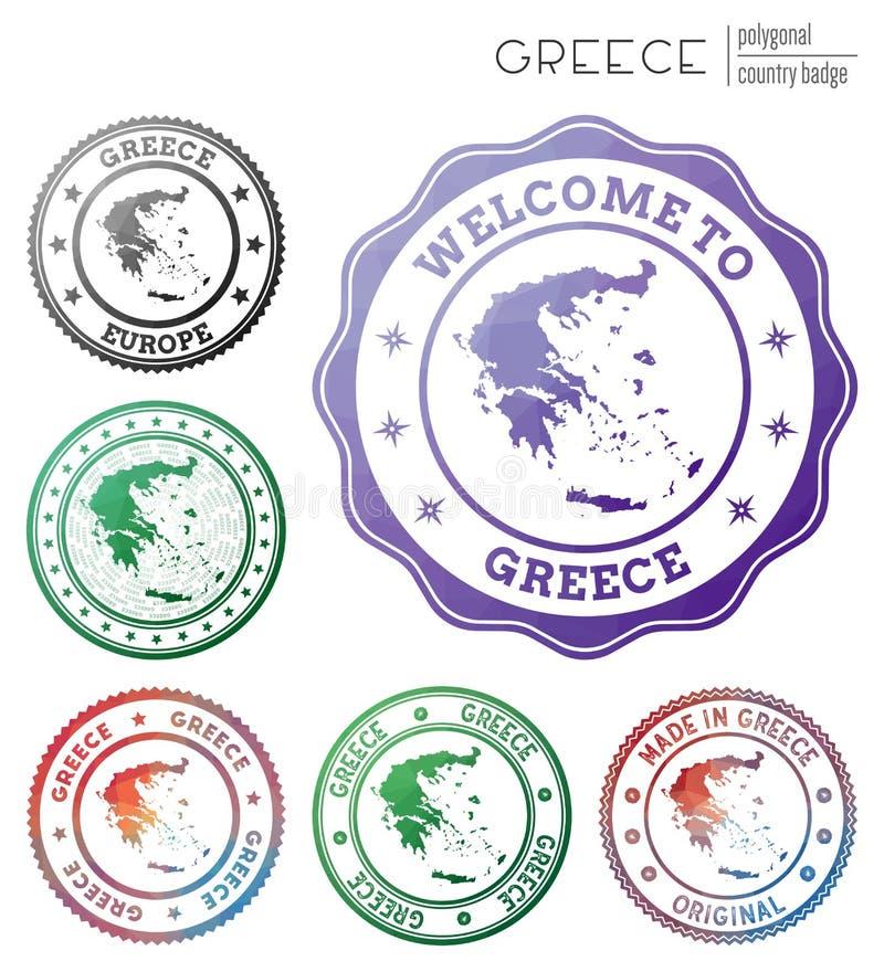 Greece badge. vector illustration