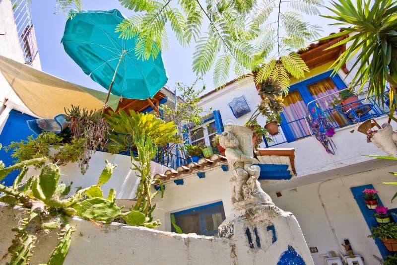 Greece balcony stock photos