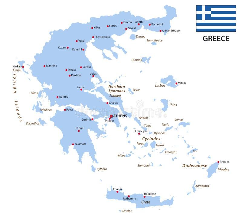 greece chorągwiana mapa royalty ilustracja