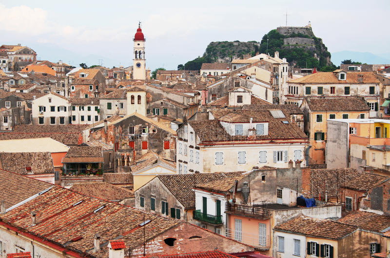 Greece. Cidade de Corfu fotos de stock royalty free