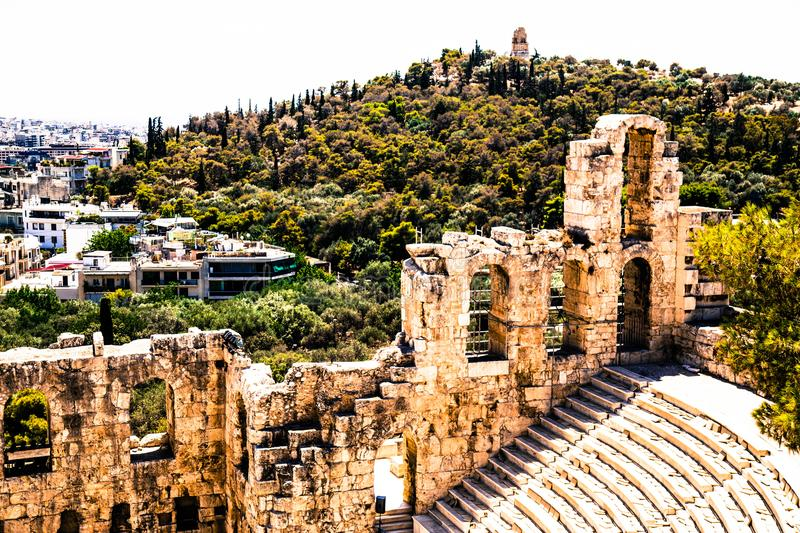 Ancient Greece. Greece is considered the cradle of Western civilization, being the birthplace of democracy, Western philosophy, the Olympic Games, Western royalty free stock images