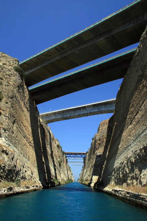 Download Greece, Corinth Canal stock image. Image of mediterranean - 9591125