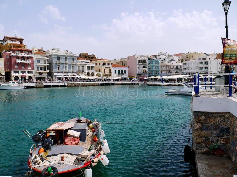 Greece, Crete, Agios Nikolaos stock photography