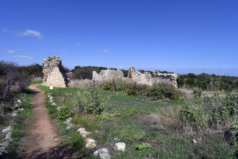 Greece, Crete, Ancient Aptera royalty free stock photo