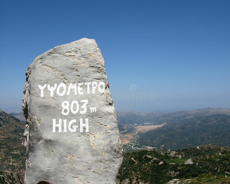Download Greece, Crete, Sign Of Mountain Heights Stock Photo - Image: 25239704