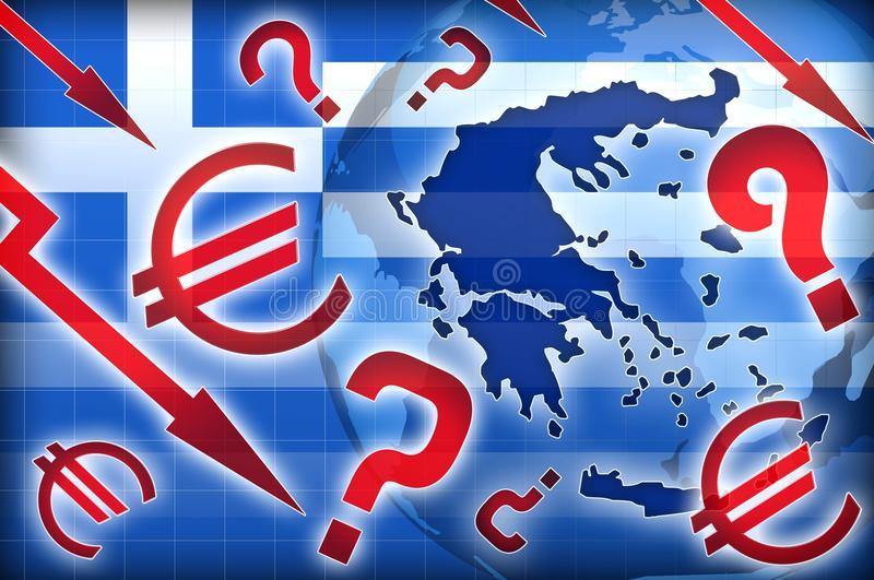 Download Greece Crisis Political Questions Stock Illustration - Image: 24697577