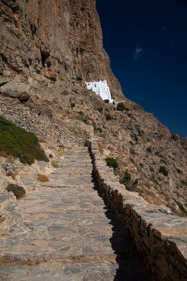 Greece, Cyclades, Amorgos island, Agia Anna Monastery stock photos